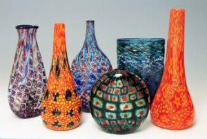 Vessels and Murrine cane